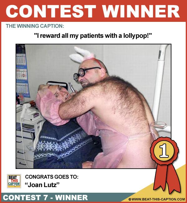 Beat This Caption Contest 7 Winner