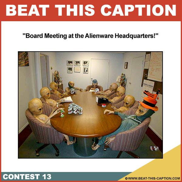 Beat This Caption Contest 13