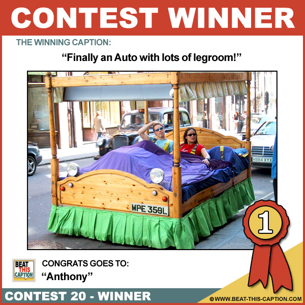 Beat This Caption Contest 20 Winner