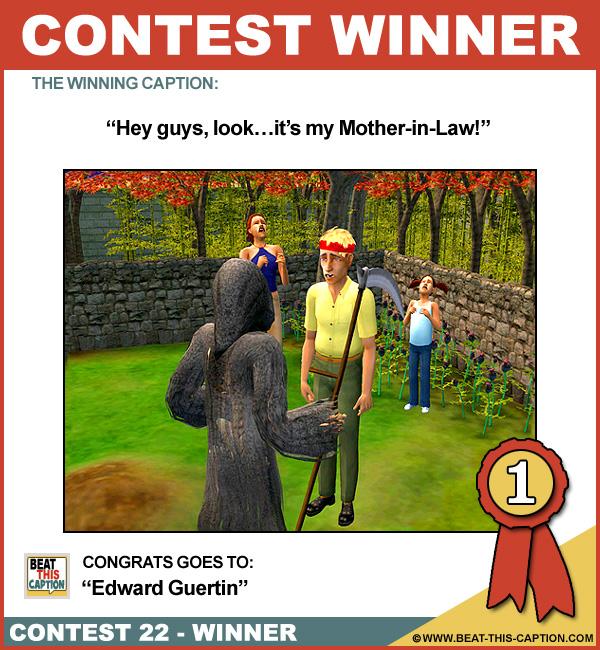 Beat This Caption Contest 22 Winner