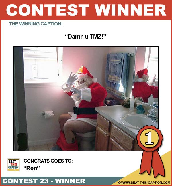 Beat This Caption Contest 23 Winner