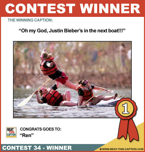 Beat This Caption Contest 34 Winner