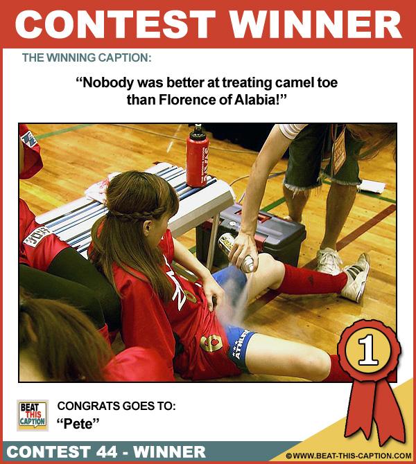 Beat This Caption Contest 44 Winner