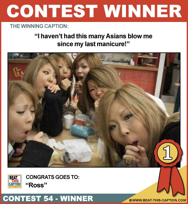 Beat This Caption Contest 54 Winner
