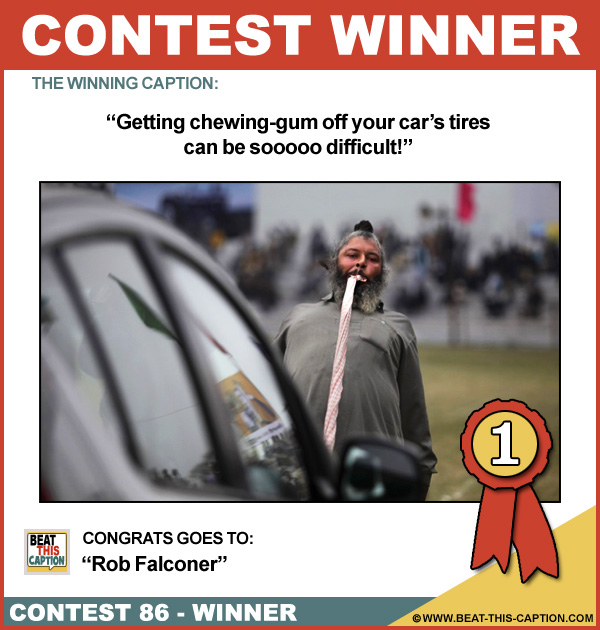 Beat This Caption Contest 86 Winner