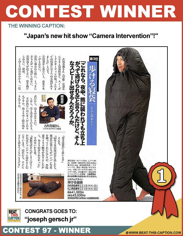 Beat This Caption Contest 97 Winner