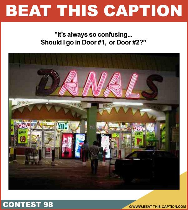 Beat This Caption Contest 98