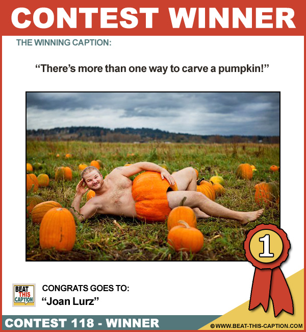 Beat This Caption Contest 118 Winner
