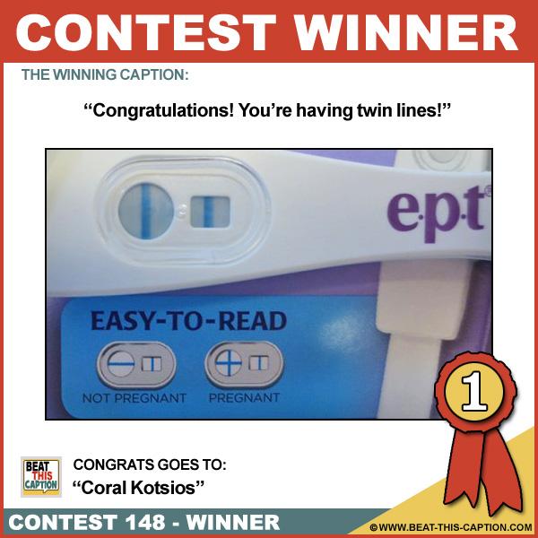 Beat This Caption Contest 148 Winner