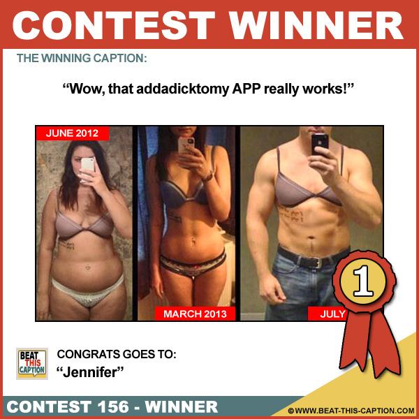 Beat This Caption Contest 156 Winner