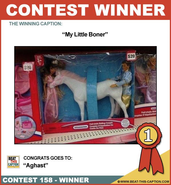 Beat This Caption Contest 158 Winner
