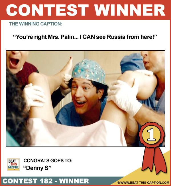 Beat This Caption Contest 182 Winner