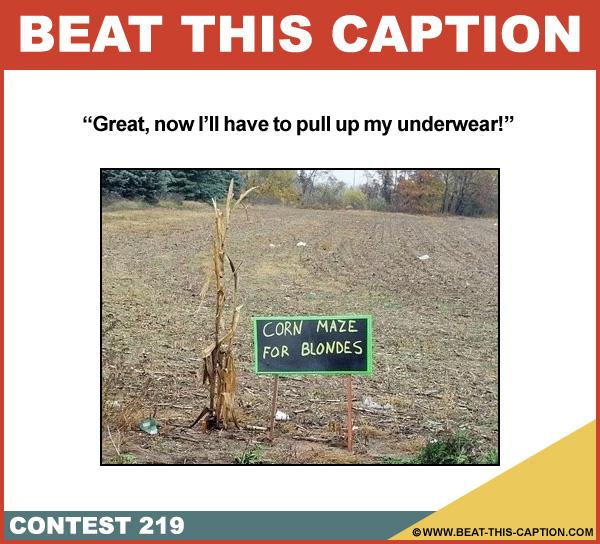 Beat This Caption Contest 219