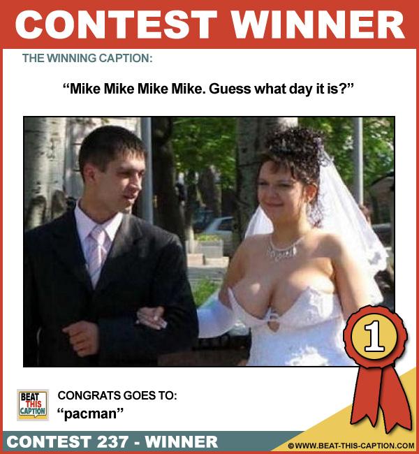 Beat This Caption Contest 237 Winner