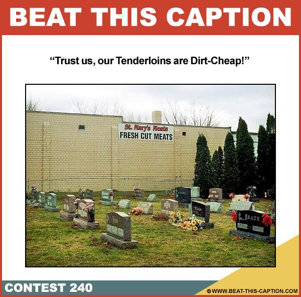 Beat This Caption Contest 240